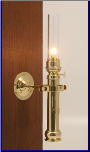 Danish Ship Sorensen Brass Lamp II, Oil  **  (Weems & Plath)