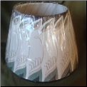 "Parchment ""FEATHER "" oil lamp shade Genuine Aladdin 14"" ***  RETIRED *** LIMITED SUPPLY *** (SKU: N390)"