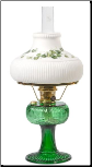 "Grand Vertique Lamp Emerald Green ""BRASS or NICKEL"" SET with painted shade (Limited Edition)"