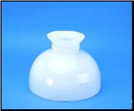 "Classic Aladdin Oil Lamp Glass Shade 10"" ""Opal  Student  Opal Style"""