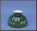 "Classic Aladdin Oil Lamp Glass Shade 10"" Styles ""Green Melon"" (SKU: M570)"