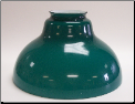 "Classic Aladdin Oil Hanging Lamp Glass Shade 12"" GREEN Bell"" (SKU: N210G)"