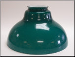 "Classic Aladdin Oil Hanging Lamp Glass Shade 12"" GREEN Bell"""