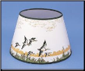 "Parchment  Aladdin Oil Lamp Shade 14"" Decorated "" Flying Ducks"" (SKU: N388)"