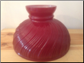 "RED  Swirl 10""  Aladdin Oil Lamp glass shade  ** (SKU: N392R)"