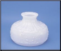 "Classic Aladdin Oil Lamp Glass Shade 10"" Opal Swiss ""Swiss"" **** (SKU: N550-1)"