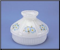"Classic Aladdin Oil Lamp Glass Shade 10"" Opal ""Opal w/Dogwood"" ** BACKORDERED ** (SKU: N661 ** ONE LEFT then  BACKORDERED  ***)"