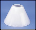 "Classic Aladdin Oil Lamp Glass Shade 14"" Opal Hanging ""Slant"" (SKU: N716)"