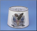 "Parchment  12"" Aladdin Oil Lamp Shade - Flag w/Eagle In Silver  ** being retired * Limited supply (SKU: S100s)"