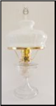 ALEXANDRIA Aladdin  Lamp ** Clear Crystal  with  Glass shade - Brass