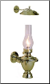 Atlantic Gimbal 718 Brass Oil Lamp with Smoke Bell  **(weems & Plath) (SKU: 718)