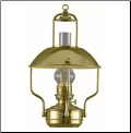 Clipper Brass Lamp - Oil  ** DHR **  (Weems & Plath) (SKU: 8207)