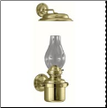 DHR Gimbal Brass Oil Lamp with Smoke Bell  **  (weems & Plath) * (SKU: 8917)