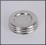 Fuel Filler Cap, Nickel  with sealing cork (SKU: N120N)