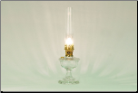 Alexandria Clear Glass Table Lamp (Brass) ** ONE LEFT then  Back Ordered **