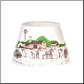 "** ONE LEFT then BACKORDERED **Parchment Aladdin Oil Lamp Shade 14"" Peace, Love, Farm (SKU: peace love farm 100021112)"