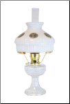 C6192 B Clear Lincoln Drape Aladdin Oil / Kerosene Lamp w/ Gristmill glass shade   - BRASS (USA)
