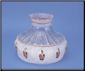 "TWO left then *** BACK ORDERED *** Classic Aladdin Oil Lamp Glass Shade 10""  Crystal Pink Rose * (SKU: M751)"