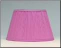 "Cloth & Parchment Aladdin Oil Lamp Shade 14""  ""Pink Pleated"" *** Being RETIRED Limited supply *** (SKU: N110P)"