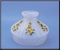 "Classic Aladdin Oil Lamp Glass Shade 10"" Satin Finish Clear Skirt "" Buttercups"" (SKU: N605)"