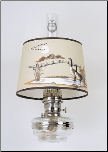 "Clear Glass Aladdin Oil Classic Wall Bracket Lamp (NICKEL) w/ 12"" Canada Goose Shade"