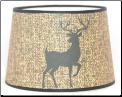 "Parchment Aladdin Oil Lamp Shade 12"" ""DEER Silhouette Parchment"" *** Made in the USA *** (SKU: DEER Parchment 100019648)"