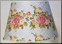 "Lattice Rose Bouquet 14"" Parchment Shade (SKU: Lattice 100019765)"