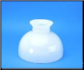 "Classic Aladdin Oil Lamp Glass Shade 10"" ""Opal  Student  Opal Style"" (SKU: M540 *** BACK ORDERED ***)"