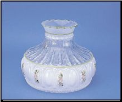"Classic Aladdin Oil Lamp Glass Shade 10"" Crystal Pink Wildflowers (SKU: M758)"