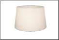 "** SHADE BACK ORDERED ** 12"" Parchment Aladdin Oil Lamp Shade -  ""White"" ** (SKU: S100a   NEEDS tripod  **)"