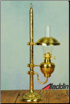 ** LAST ONE **  Aladdin® Brass Student FLAT WICK Oil Lamp ***NON-MANTLE***