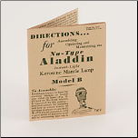 Manual for Model  B Lamp **  Instruction Booklet  ***** reprint of original**** (SKU: Model B booklet)