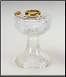 Aladdin Oil Lamp Clear Lincoln Drape FONT ONLY  (Brass) (USA) (SKU: R092)