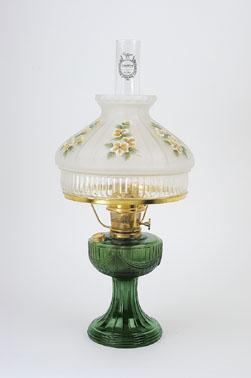 Aladdin Lincoln Drape Emerald Green Oil Lamp With