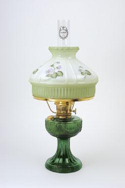 Aladdin Lincoln Drape Emerald Green Oil Lamp With 10
